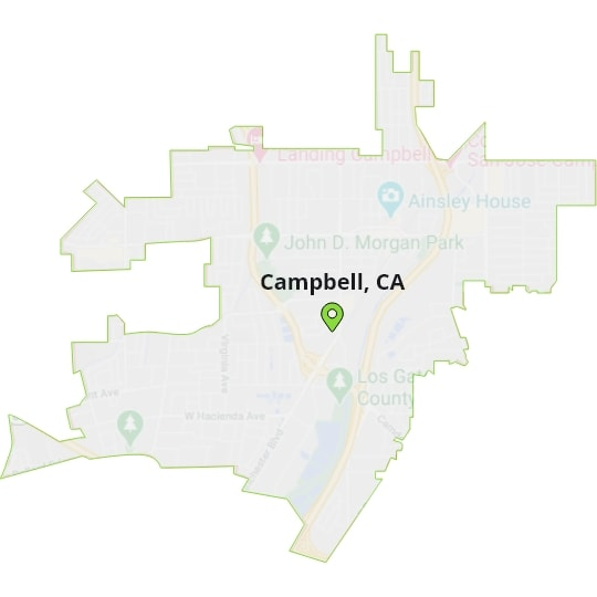 Campbell, CA Map